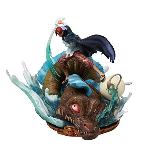 Rey de los ladrones rojos Shanks Cuatro Emperadores Superpoblante Escena Estatua Modelo hecho a manoaction figure