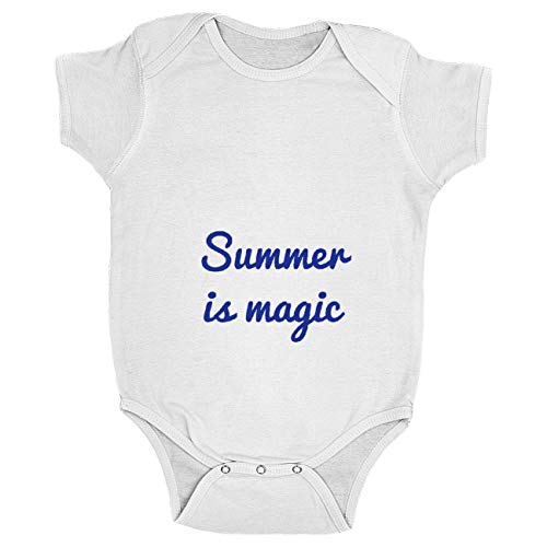 My Custom Style Body Baby Collection #Summertime_A#100% Coton 220 g Bianco 18-24 Mesi Summer Time - Magic