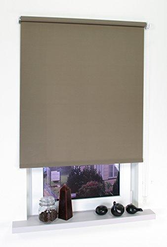 HOMELIA Seitenzugrollo Made in Germany Lichtdurchlässig, mit Bedienkettenzug / 142 x 180 caffee/Wand-und Deckenmontage