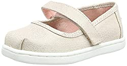 cheap TOMS Kids Baby Girl Mary Jane (Toddler / Toddler / Toddler) 10 Rose Gold Rain Bow Foil for Toddler M.
