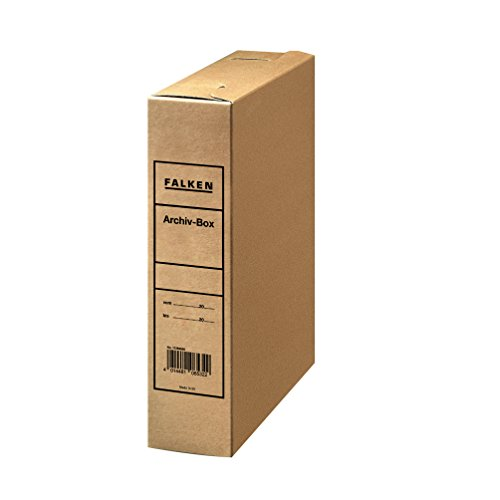 Original Falken Archiv-Boxaus stabilem Wellpappkarton für DIN A4 für die Lose-Blatt-Ablage Archivierung