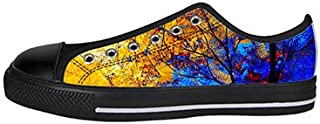 Custom Art Tree Painting Womens Classic High Top Canvas Shoes Fashion Sneaker