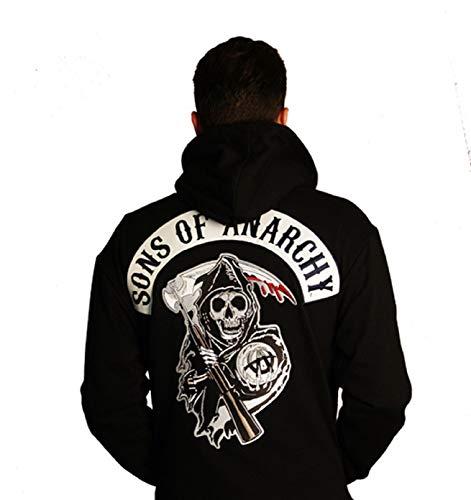 Son of Anarchy Highway - Chaqueta de piel sintética con capucha, color negro