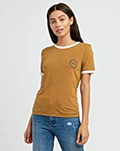 RVCA Women's Pixel Script Short Sleeve Ringer T-Shirt