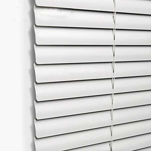 Taiyuhomes Aluminum Horizontal Window Mini Blinds Blackout Roll up Shades 1 inch Slats with Easy Inside and Outside Mount,47 1/2x64 Inch,Grey