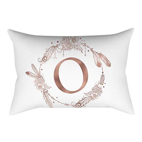 UYSDF Fashion Pillowcase 30 * 50 cm,30x50 cm Kinder Zimmer Dekoration Brief Kissen Englisch Alphabet Pillowcases