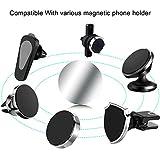 MOSUO 9 Pièces Plaque Metallique Telephone (9 Rondes) avec Adhésif 3M pour Support Téléphone Voiture Magnétique/Aimant Telephone Voiture et Autres Produits Aimanté, Argent