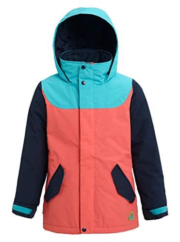 Burton Mädchen Elodie Snowboard Jacke, Blue Curacao/Dress Blue/Georgia Peach, M