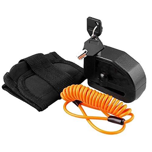 Accesorios para bicicletas Impermeable metálicas de seguridad de discos de freno de bloqueo antirrobo de bloqueo del freno con 110 dB de sonido de 5 pies Recordatorio de cable for motocicletas Vespa B