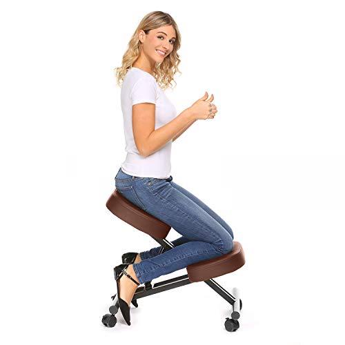 Plohee Ergonomic Kneeling Chair Adjustable Knee Stool for Healthy Back &...