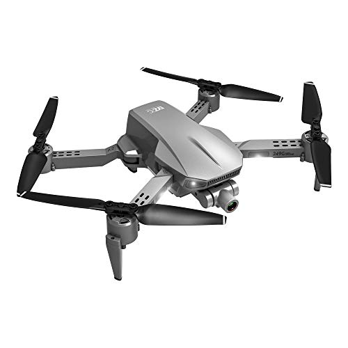 GYZLZZB Portable Folding Remote Control Drone, Equipped with 4K HD Dual Camera, 16 Minutes Flight Time, 1200 Meters Remote Control Distance, Intelligent Following, Gesture Recognition, Gray