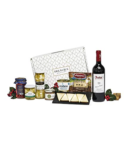 Sadival Cesta de Navidad Gourmet con Vino Tinto Protos Roble