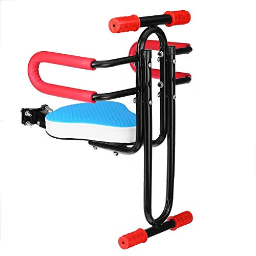 ZXPP Asiento Bicicleta Sillín Bicicleta Extraíble, Marco Asiento Tubo De Acero, Sillín Asiento Delantero Plegable para Bicicleta Eléctrica, Placa Asiento Plegable para Niños Niños Sillín (Color : 2)