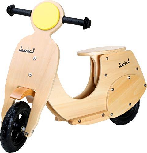 small foot 4737 scooter en bois, design nostalgique, avec repose-pieds et poignées fixes, à partir de 3 ans