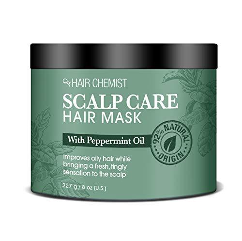 Hair Chemist Masque capillaire pour le cuir chevelu avec huile de menthe poivrée 235 ml (Pack of 4)