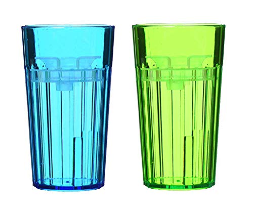 Reflo Smart Cup, a Smart Alternative to'Sippy Cups' (Blue/Green)