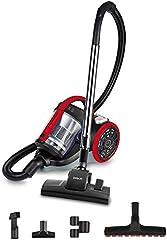 Polti Forzaspira C110_Plus Aspirador cicónico sin Bolsa, 2 litros Capacidad depósito de Recogida, 800 W, 80 Decibelios, Rojo