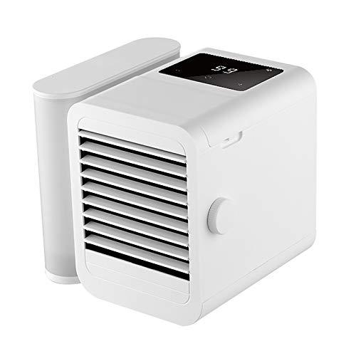 Not application Enfriador de Aire, Pantalla táctil Aire Acondicionado de Escritorio Ventilador de enfriamiento de Aire 3 en 1 Enfriador de Agua Ventilador de enfriamiento