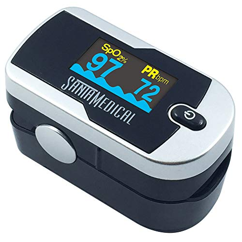 Santamedical Generation 2 Fingertip Pulse Oximeter Oximetry Blood Oxygen Saturation Monitor with...
