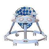 Xiaoyue Btybess Trotteur Anti Rollover Anti O-Jambe Multifonctions 6-18 Mois avec Musique bébé Poussette, Activité Pliable Walker Aide à Hauteur réglable (Couleur: Vert) lalay (Color : Blue)