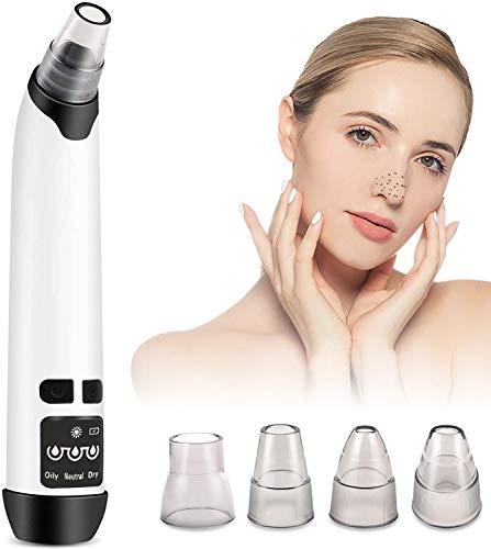 Mitesserentferner Porenreiniger Vakuumsauger Mitesser Entferner - 2020 Verbesserte USB Aufladung Elektrisch Poren Reinigung Sauger Vakuumsauger Kilpor mit 4 Austauschbare Schönheit Köpfe