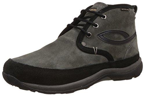 Woodland Men's Grey Leather Trekking and Hiking Boots - 6 UK/India (40 EU)