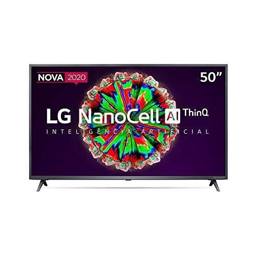 Smart TV LG 50' 4K NanoCell WiFi Bluetooth HDR Inteligencia Artificial ThinQAI Google Assistente Alexa IOT