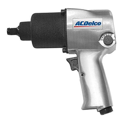 """ACDelco ANI405A Heavy Duty Twin Hammer ½"""" 500 ft-lbs. 5-Speed Pneumatic Impact Wrench Tool Kit"""