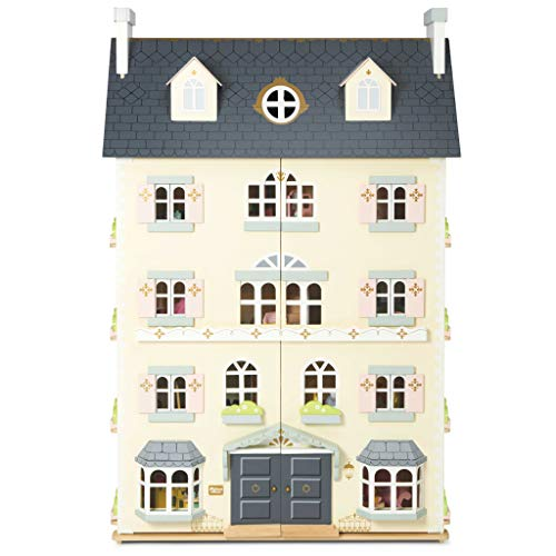 Le Toy Van - Palace House Large Wooden Doll House | 5 Storey Wooden Dolls House Play Set - Suitable For Ages 3+