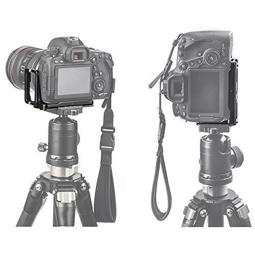 Verstellbare vertikale Schnellwechselplatte Handgriff Halterung L-Halterung für Canon EOS 6D Mark II spiegellose Kamera