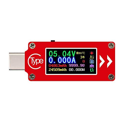 電子マルチメータ TC64 QC2.0 QC3.0 LCD USB 電圧計 電流計 電圧電流計 マルチメータ バッテリー USBテスター マルチテスターメーター