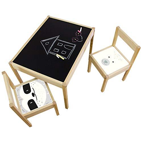 Limmaland Kreidefolie Ideenreich passend für deinen IKEA LÄTT Kindertisch (Faultier/Bär) - Möbel Nicht inklusive