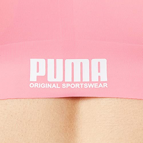 PUMA Women Sporty Padded Top 1P Ropa Interior, Pink, XS para Mujer