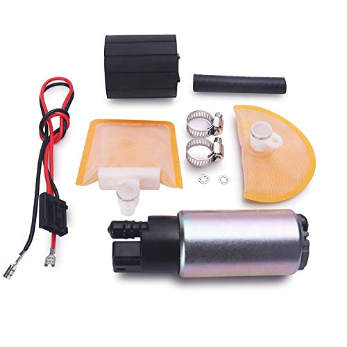CUSTONEPARTS New Electric Intank Fuel Pump With Stainless Steel Clamps + Rubber Gasket + Rubber Hose Fit Toyota Lexus Pontiac Scion Chevy Honda Nissan Lexus