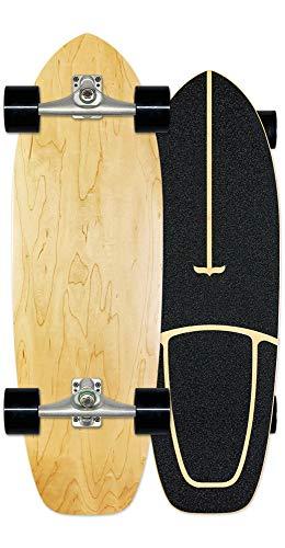 SJNSJN Cruiser Skateboard Land Surfbrett 78 x 24.5cm Belastbarkeit 150 kg Fortgeschritten Skateboarding Komplettboard 7-Lagigem Ahornholz für Jugendliche Kinder und Erwachsene,B