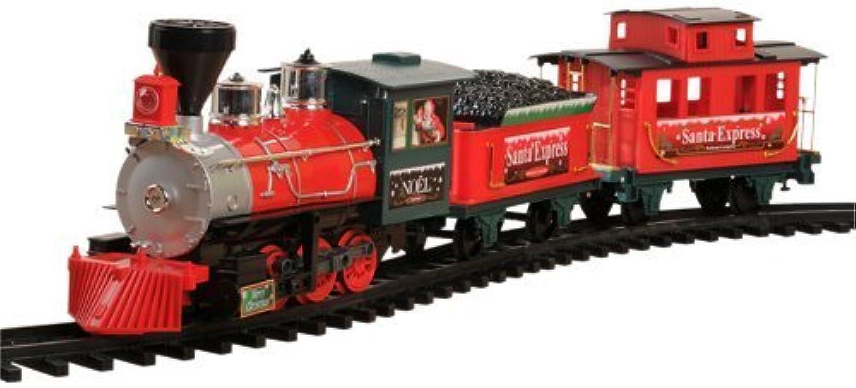 en venta en línea CP CP CP Juguetes Battery-operated Four Coche Santa Express Christmas Train with Sound   27 pc. Set by Constructive Jugarthings  primera reputación de los clientes primero