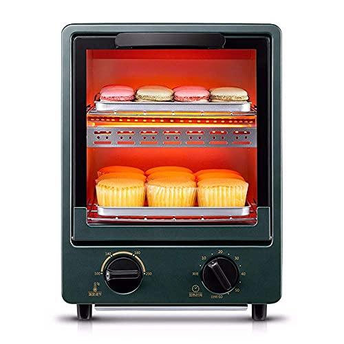 Horno eléctrico pequeño de 12 l, horneado doméstico Vertical, Mini máquina automática multifunción para Pasteles,Horno para Pizza Gourmet, Control de Temperatura Ajustable,Horn