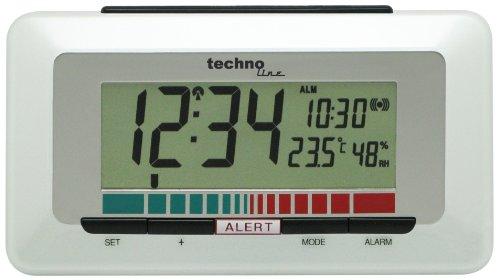Technoline Luftgütemonitor WL 1000 mit Innentemperaturanzeige und Luftgütesensor zur Überwachung der Raumluftqualität , Weiß, 15,1 x 4,8 x 8,5 cm