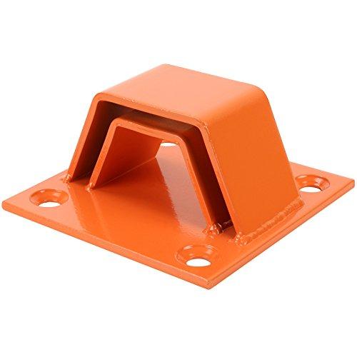 Hardcastle - Verankerung für Boden & Wand - extra sicher - Orange