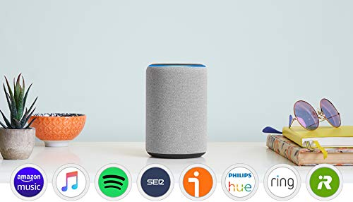 Amazon Echo (3.ª generación) reacondicionado certificado, altavoz inteligente con Alexa, tela de color gris oscuro
