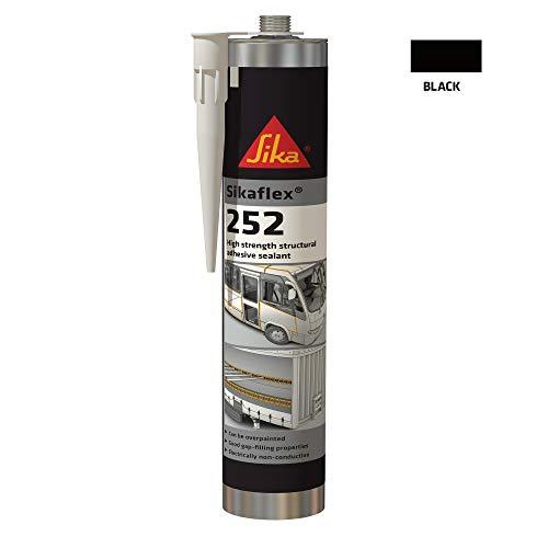 Sikaflex 252 schwarz 300ml Kartusche 1-K-Klebstoff; Karosseriekleber
