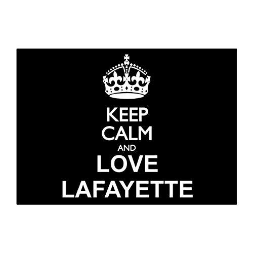 Teeburon Keep Calm and Love Lafayette Sticker Pack x4 6'x4'