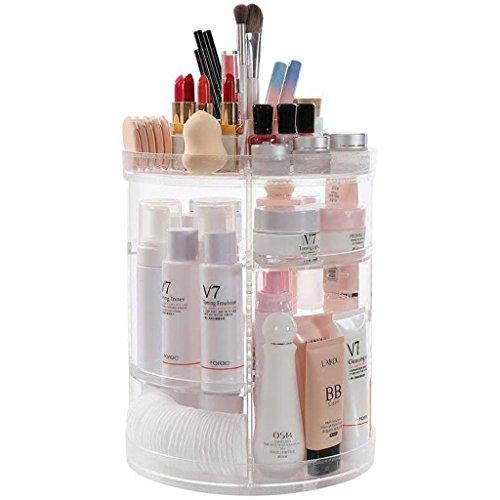 Coffrets de maquillage cosmétique Caisse de Rangement pivotante Multicouche Bureau étagère Organiser Les étagères des Choses Trier Les Choses dans des boîtes