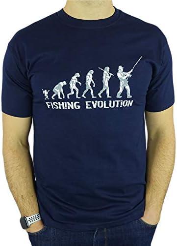 My Generation Gifts Fishing Evolución - Regalo Divertido de la Pesca del cumpleaños/Presente para Hombre de la Camiseta