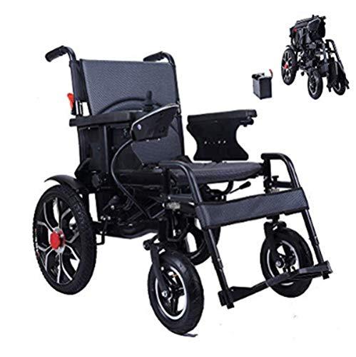 XINTONGDA Silla de Ruedas eléctrica Plegable para discapacitados Carro Plegable Antiguo Deshabilitado Scooter Capacidad de acción compensatoria