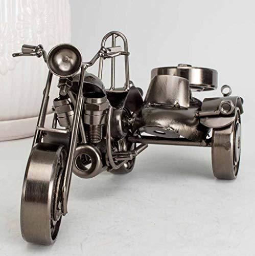 ZXWDIAN Automodell Spielzeugauto Antikes Schmiedeeisen-Dreirad-Motorrad antikes Dreirad-Oldtimer-Anti-Rutsch-Dreirad-Oldtimer-Modell Handarbeit Autos Fahrzeuge Spielzeug (Size : 20x12x12cm)