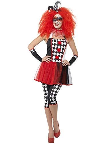 Harlekijn kostuum duister voor vrouw