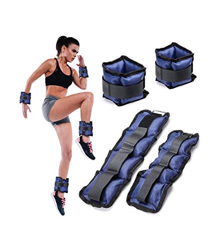 TradeShop - Set 4 Pesi Polsi E Caviglie 2 kg + 1 kg Allenamento Palestra Aerobica Fitness - 17492