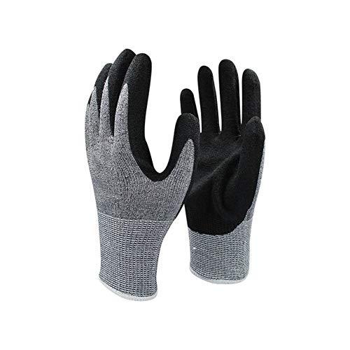 Ywlanlantrading Handschuh Schutzhandschuhe Schnittfeste Latex-Arbeitshandschuhe (Color : Black, Size : M)
