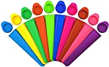 10 piezas de silicona paletas molde-paletas molde de paletas con tapa, grado alimenticio, máquina de paletas para niños